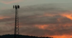 Beautiful Clouds in this Cell Tower Sunrise Time-lapse.
