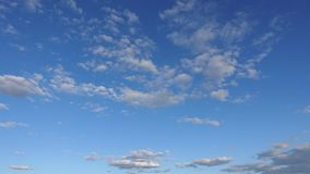 Beautiful clouds in the clear sky, Timelapse. Amazing beauty of the sky on a Sunny day.  stock video footage