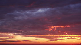 Beautiful clouds at dawn, timelapse. stock footage