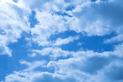Beautiful clouds on a deep blue sky Stock Photo