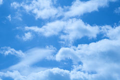 Beautiful clouds on a deep blue sky Royalty Free Stock Images