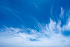 Beautiful clouds formation against blue sky, Abstract texture blue color royalty free stock image
