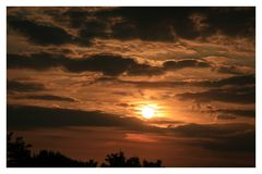 The beautiful sunset in Papendrecht royalty free stock photography