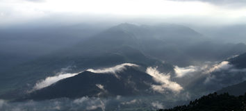 Beautiful clouds on the hills of Pokhara valley Stock Photography