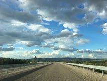 Beautiful clouds landscape road at near by Kirikkale city Middle of Anatolia, Turkey stock photo
