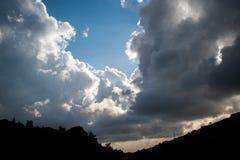Beautiful clouds in Lebanon 2019 stock photo
