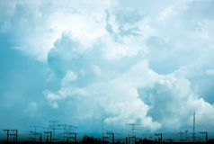 Beautiful clouds royalty free stock images