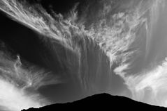 Beautiful clouds and mountain royalty free stock photography