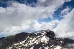 Beautiful clouds in mountain Stock Photo