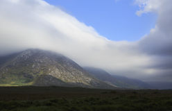 Beautiful clouds in the National park Connemara. Stock Image
