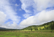 Beautiful clouds over the Altai mountains Stock Photo