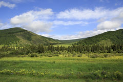 Beautiful clouds over the Altai mountains Stock Photos
