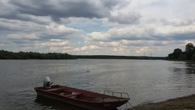 Beautiful clouds over Danube. Beautiful view,Clouds over Danube Royalty Free Stock Photography