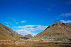 Beautiful clouds over the mountains, Iceland Stock Photography