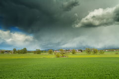 Beautiful clouds over the Nidda valley Stock Image