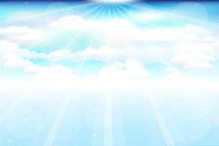 Beautiful Clouds With Rays. Vector  Royalty Free Stock Images
