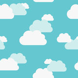 Beautiful clouds seamless pattern Royalty Free Stock Photography