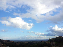 Beautiful clouds on Siena Stock Image