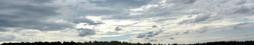 Beautiful clouds on the sky. Photo Of the beautiful clouds on the sky royalty free stock photography