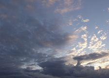 Beautiful clouds on the sky. Photo Of the beautiful clouds on the sky royalty free stock photos
