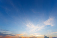 Beautiful Clouds and sky at sunset Stock Photography