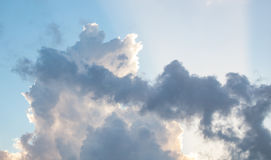 Beautiful clouds in a sunny sky Royalty Free Stock Photography