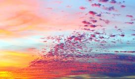 Beautiful clouds at sunset stock photos