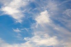 Beautiful clouds at sunset Royalty Free Stock Photos