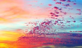 Beautiful clouds at sunset. Beautiful cirrus clouds at sunset stock photos