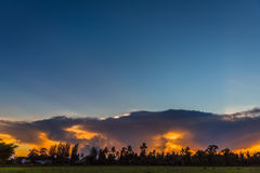 Beautiful clouds at sunset Royalty Free Stock Image