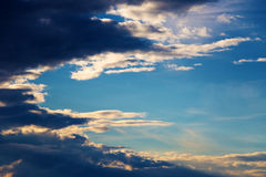 Beautiful clouds at sunset Stock Images