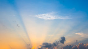 Beautiful clouds on sunset sky. 1 Royalty Free Stock Photo