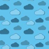 Beautiful Clouds Wallpaper. Seamless texture Stock Photo