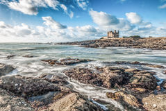 Beautiful Clouds and Waves in Brittany, France royalty free stock photos