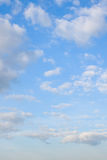 Beautiful cloudscape. With white fluffy clouds Royalty Free Stock Images