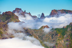 Beautiful cloudscape above the mountains, Madeira Royalty Free Stock Image