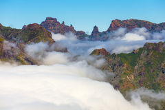 Beautiful cloudscape above the mountains, Madeira Royalty Free Stock Photos