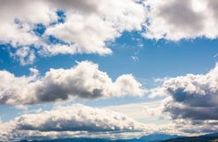 Beautiful cloudscape on a blue sky. Wonderful autumn background Stock Images