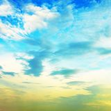 Beautiful Cloudscape. Cloudscape with blue sky at sunny day Stock Images