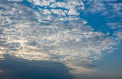 Beautiful cloudscape at dusk. Location: Germany, North Rhine-Westphalia stock images