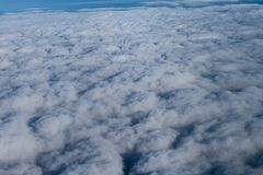 Beautiful cloudscape high up in the sky. royalty free stock photo