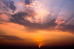 Beautiful cloudscape landscape sunrise Royalty Free Stock Image