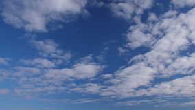 Beautiful cloudscape with large, building clouds at blue sky