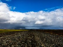 Cloudscape in Iceland royalty free stock photo