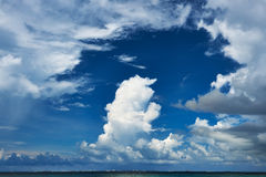 Beautiful cloudscape at Maldives Stock Images