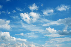 Beautiful cloudscape over horizon. Royalty Free Stock Images