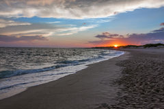 Beautiful cloudscape over the sea - Puglia Royalty Free Stock Images