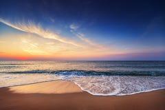 Beautiful cloudscape over the sea, sunrise shot Stock Photography