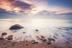 Beautiful cloudscape over the sea Stock Images