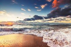 Beautiful cloudscape over the sea Stock Photos